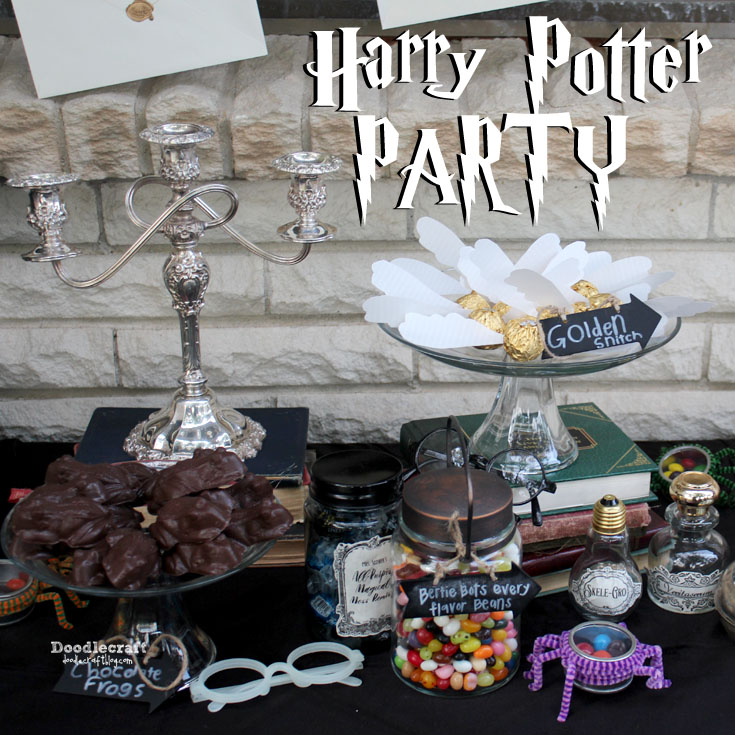 Doodlecraft Harry Potter Party Decorations Games and Treats