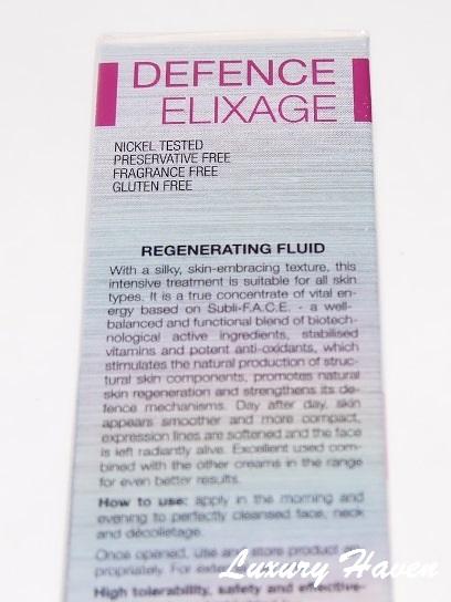 bionike defence elixage nikel free skincare product