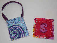 letter, initial, mini tote bag for doll