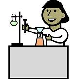 picture of scientist in lab