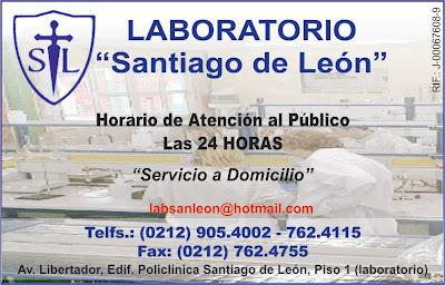 LABORATORIO SANTIAGO DE LEON en Paginas Amarillas tu guia Comercial