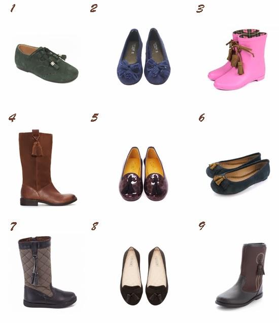 Selección calzado con borlas Pequeña Fashionista