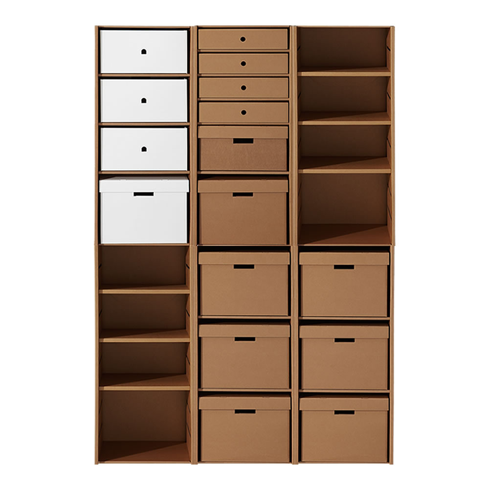 Bb blog karton group cardboard furniture - Estanteria carton ...