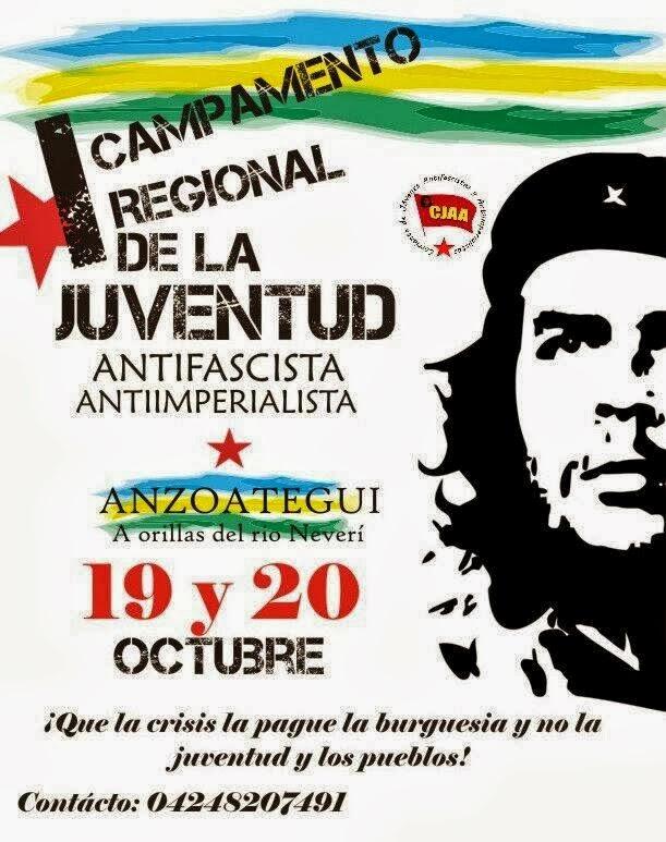Cartel del campamento antifascista Anzoátegui 2013