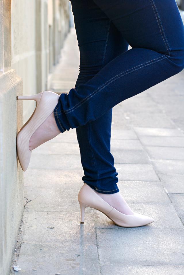 nude comfortable Rockport heels