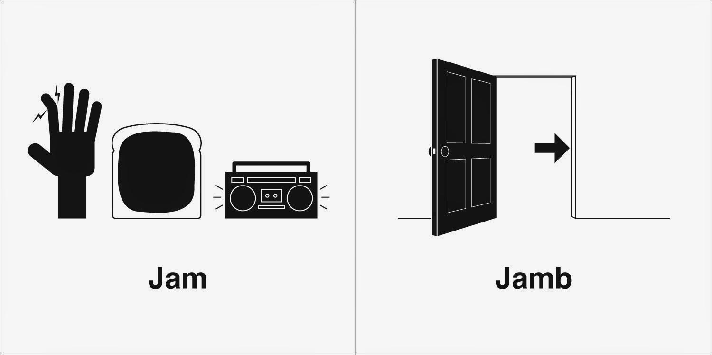 Homophones, Weakly: Jam & Jamb