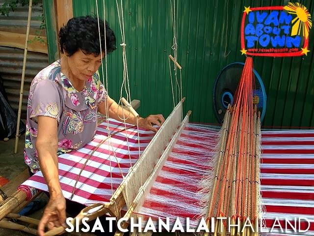 Weaver in Si Satchanalai, Thailand