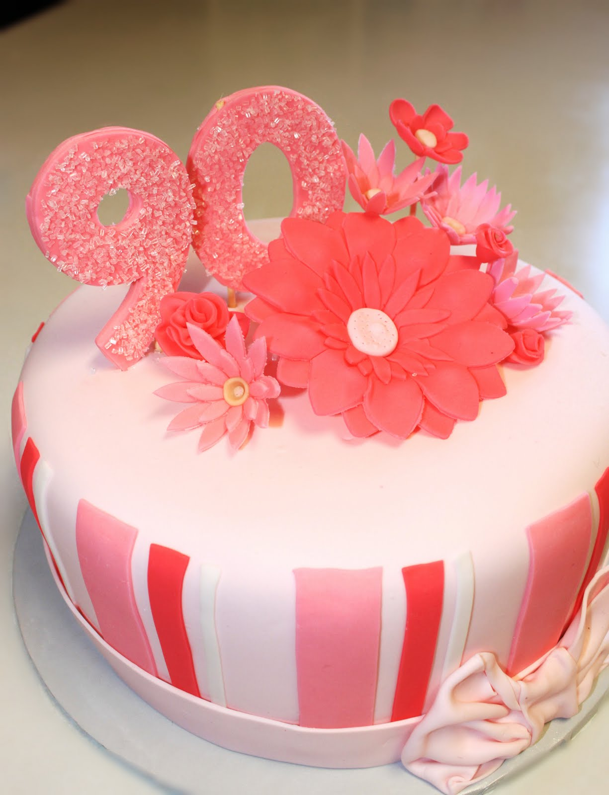 Cake Decorating Ideas For A 90 Year Old : Layers of Love: 90th birthday cake