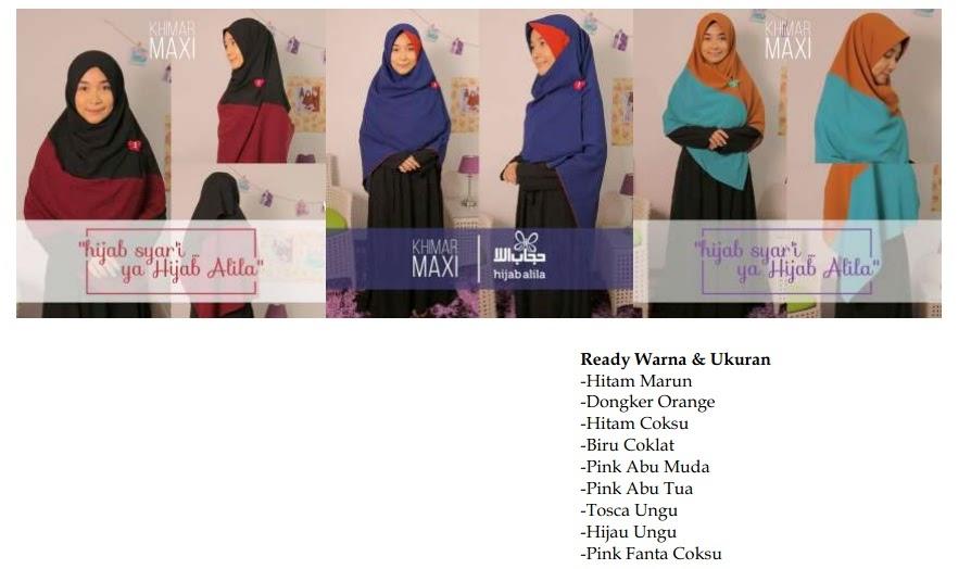 Jual Alila Khimar Maxi Pekanbaru