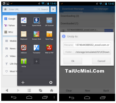 tai uc mini, tải uc browser mini, uc mini