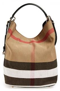 Burberry Brit 'Medium Susanna' Check Print Bucket Bag