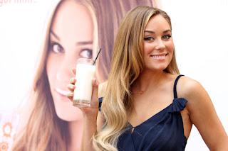 Lauren Conrad having milk