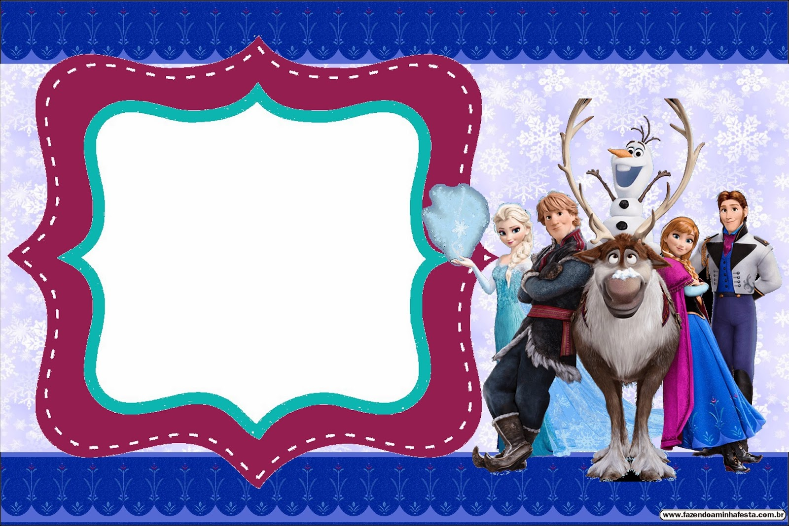 Cute Frozen Party Free Printable Invitations Oh My Fiesta! in english