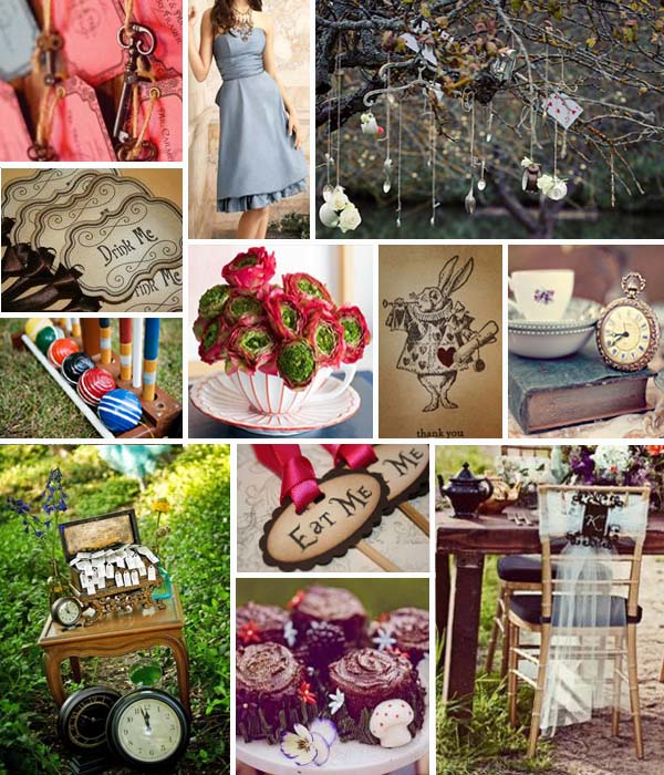 Swashbuckle The Aisle Alice In Wonderland Inspiration Board