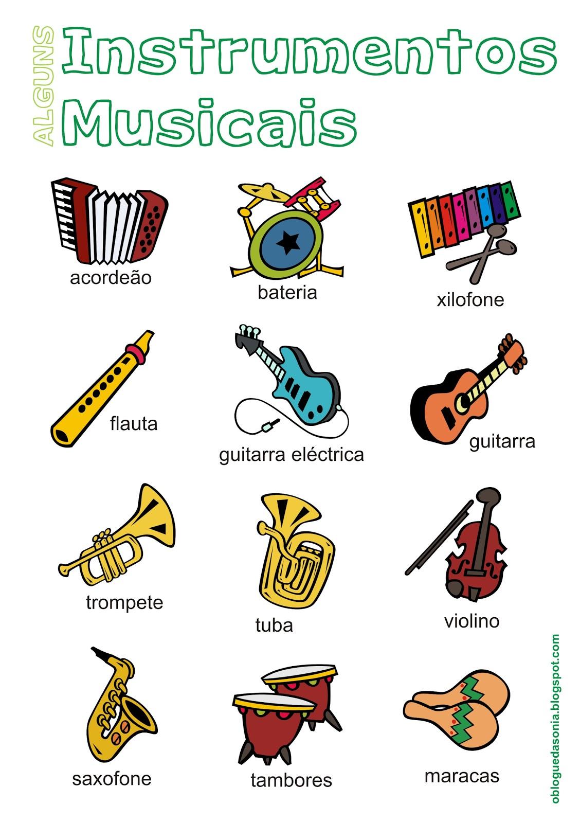 intrumentos musicais: