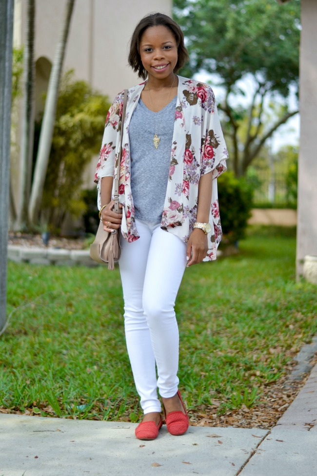 Kimono Outfits With Jeans