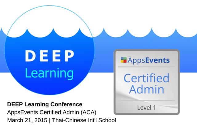 AppsEvents Certified Admin (ACA) Strand on Deep Learning Teaching ...