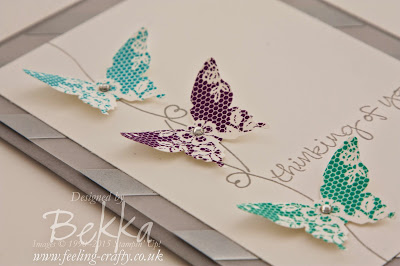 Sophisticated Thinking of You Card Featuring Stampin' Up! UK Products get the details here
