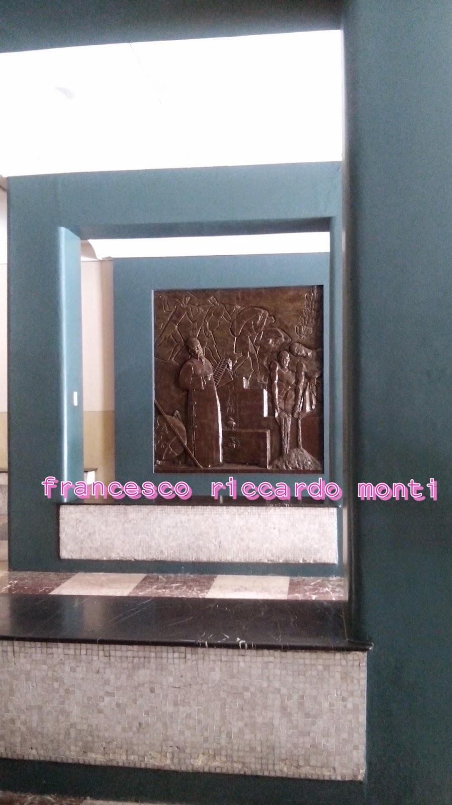 Wooden reliefs by Italian sculptor Francesco Riccardo Monti