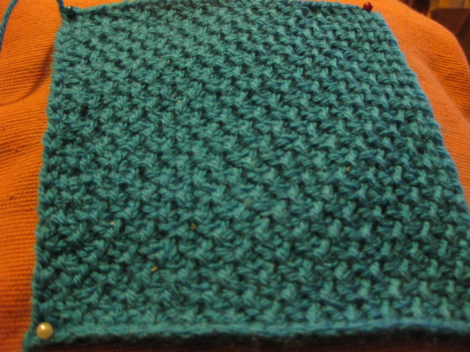 Crochet Stitch Honeycomb : Square 9 - Tunisian Popcorn Stitch