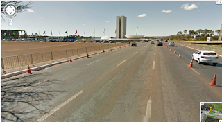 Viaje por Brasília através do Google Street View