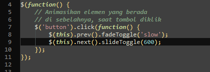 JQuery .next() dan .prev()