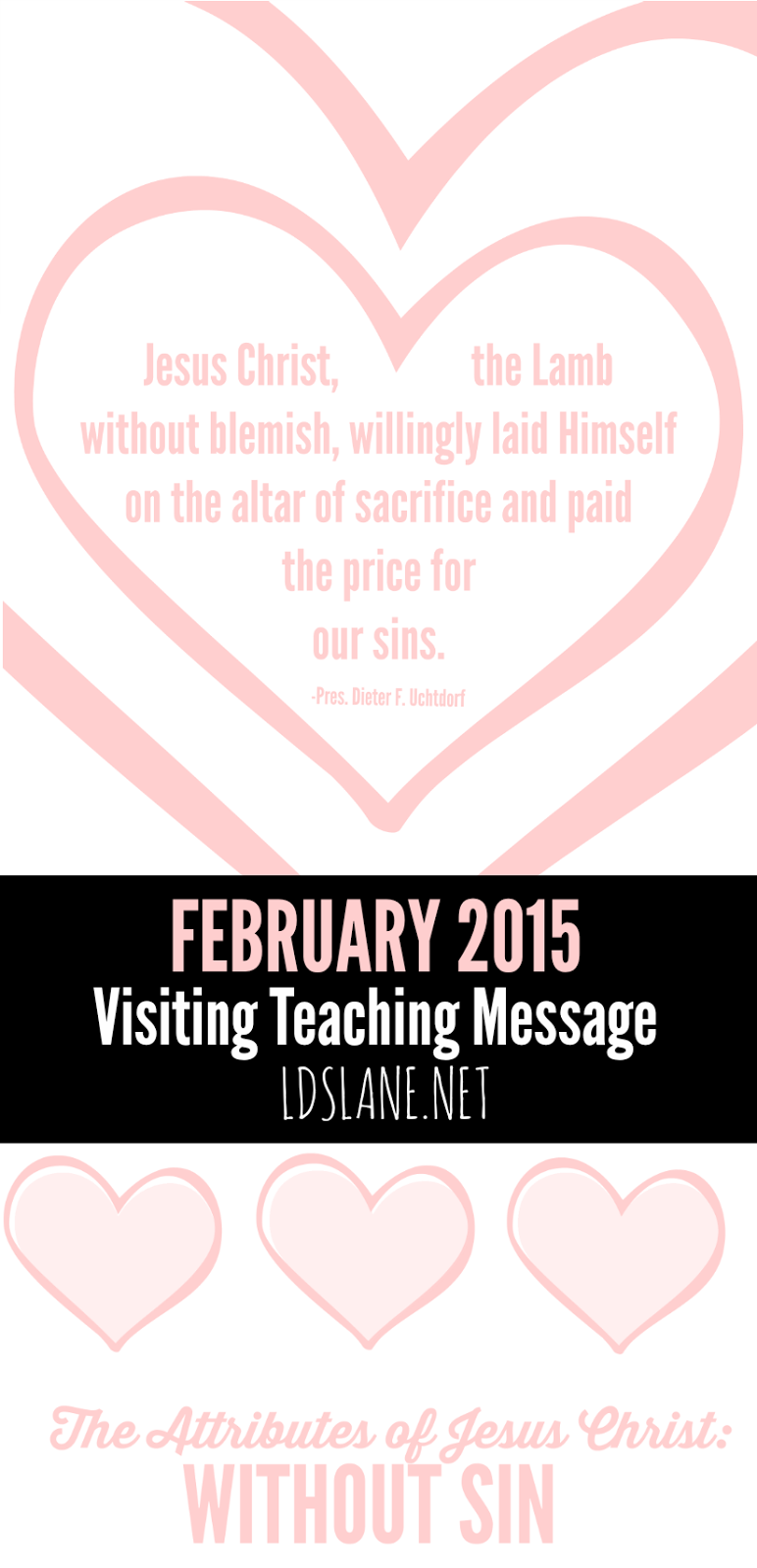 February 2015 Visiting Teaching Printables by ldslane.net