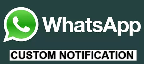 How to set custom notification per contact on Whatsapp