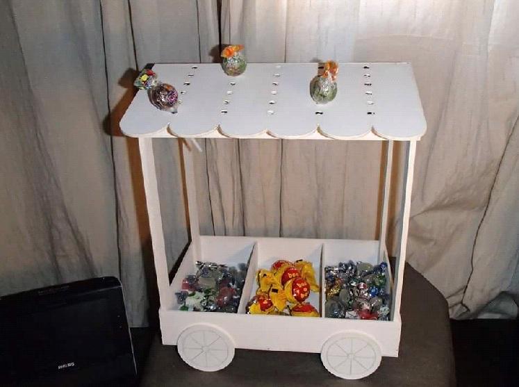Carrito de mdf para candy bar o mesa de dulces cnc router for Carrito bar de madera