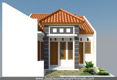 Desain Rumah Tropis Minimalis depan