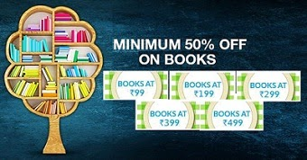 Minimum 50% Off on All Kinds of select Books & Rs.99 | Rs.199 | Rs.299 | Rs.399 | Rs.499 Store