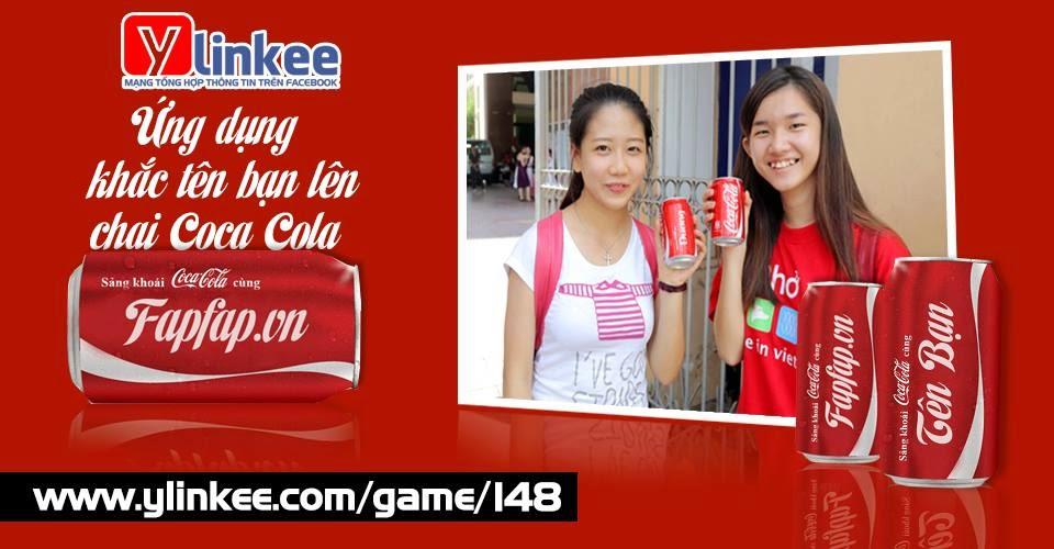 in tên lên Lon Coca Cola