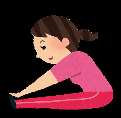 柔軟体操をする女性のイラスト