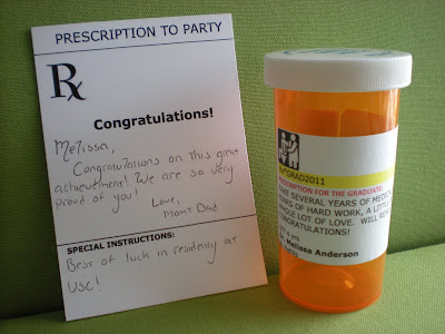 Prescription Bottle Cards, medical graduation invitation