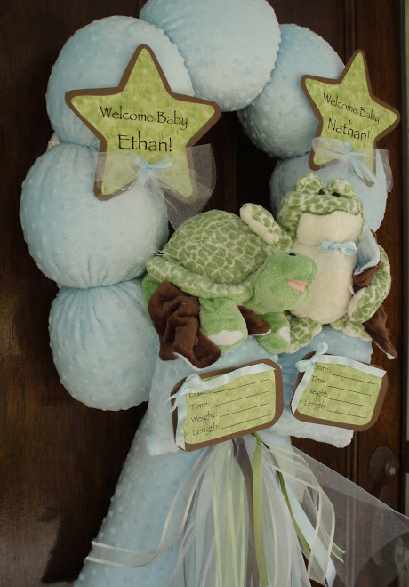 61. CUSTOM &quot;MR &amp; MRS POND&quot; BABY WREATH
