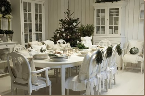 French Country Chic White Christmas