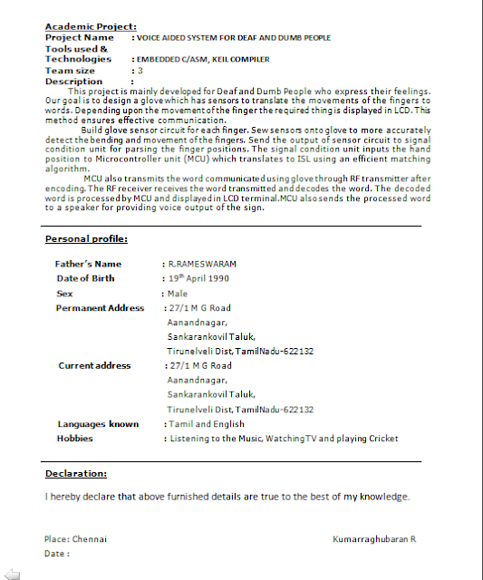 download freshers perfect resume format
