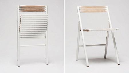 Silla con palos de madera reciclados - Muebles originales reciclados ...