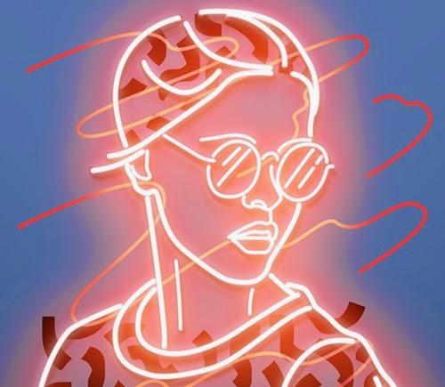Neon Drawing | Gadget Art Design - S7eep.com