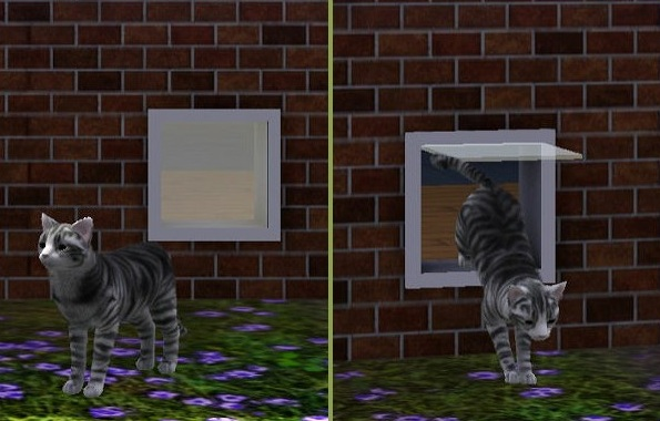 My Sims 3 Blog Animated Cat Door Unique First From