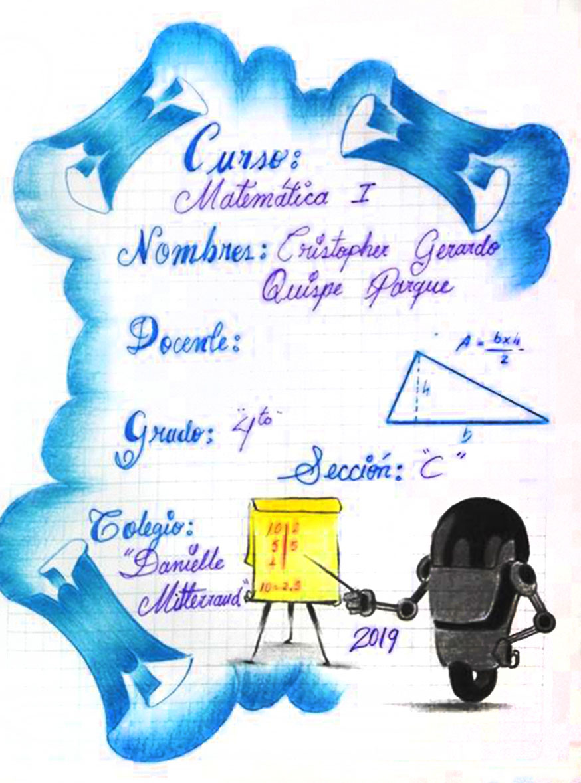 carátula de matemática