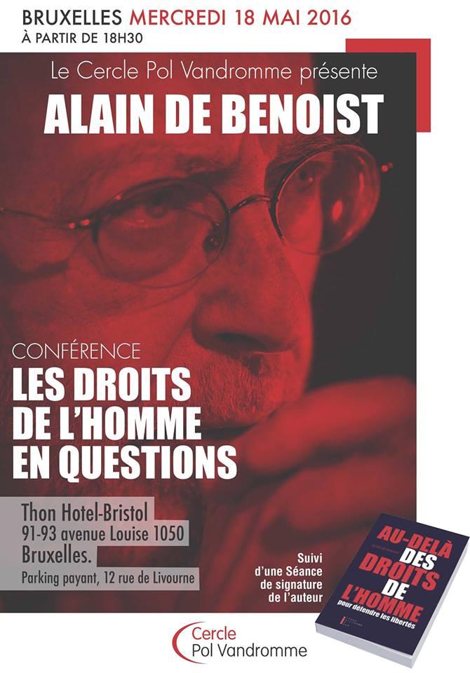 L'affiche de la conférence du Cercle Pol Vandromme
