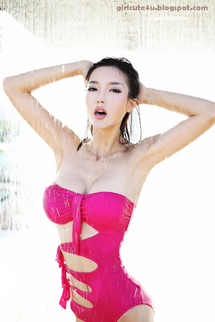 Li-Ying-Zhi-Magenta-Monokini-06-very cute asian girl-girlcute4u.blogspot.com