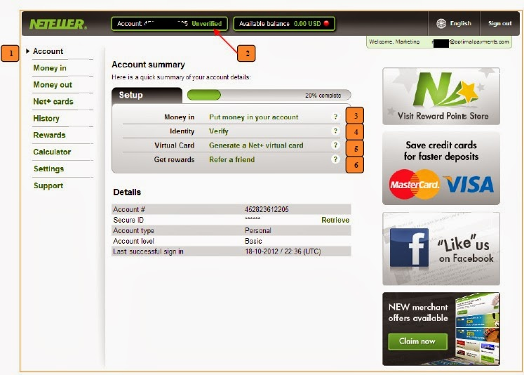 neteller card limits
