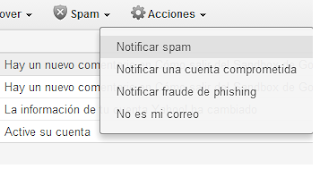 notificar spam a Yahoo