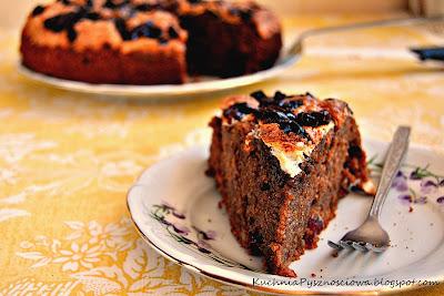 66. Ciasto czekoladowe z wanilią i żurawiną
