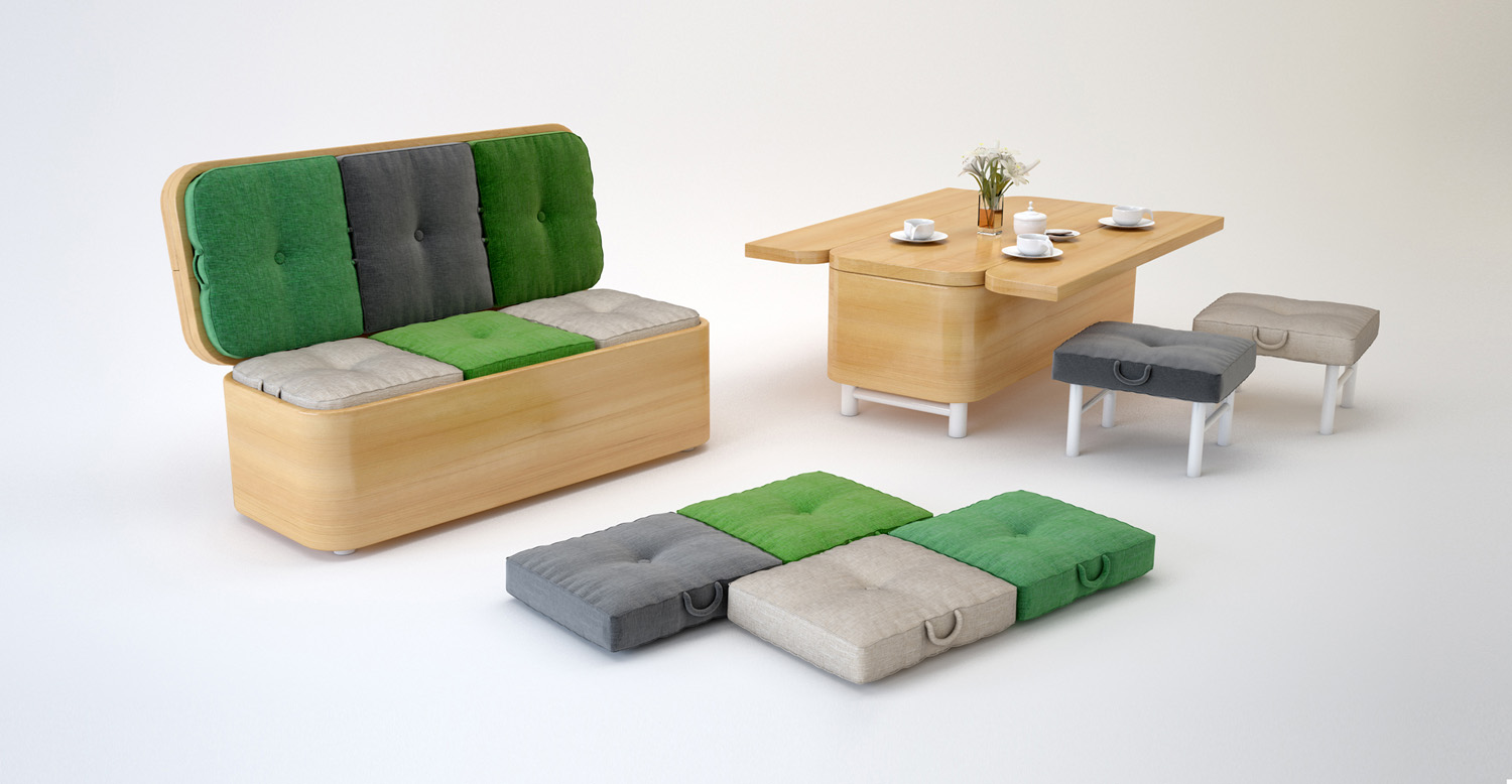 The Latest Innovations In Furniture Design Maximize Precious Space For  Compact City Homes   From Beds To Foldaway Dining Tables And Seating That  Doubles As ...