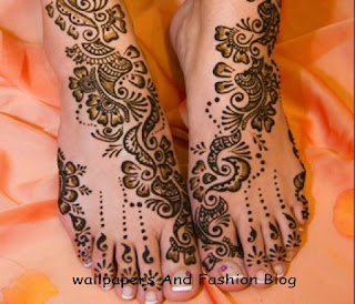 easy to make mehndi designs for bridal foot