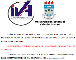 VESTIBULAR 2015.1 DO IVA