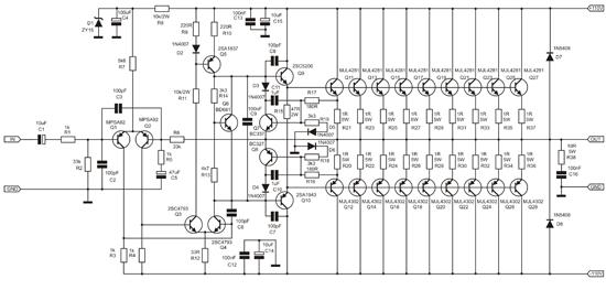 apex ba1200 amplifier 1000 watt dengan rangkaian sederhana
